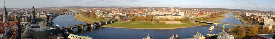 Panorama von Dresden