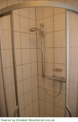 Dusche in der Ferienwohnung