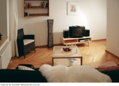 Wohnbereich mit Couch und TV