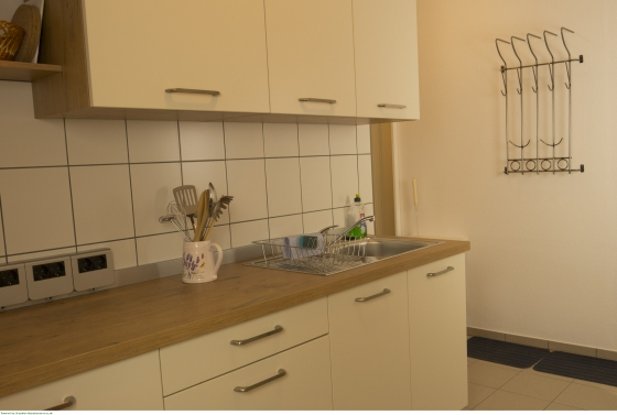 Gut ausgestattete Einbauküche