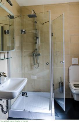 Bad mit Dusche Appartement