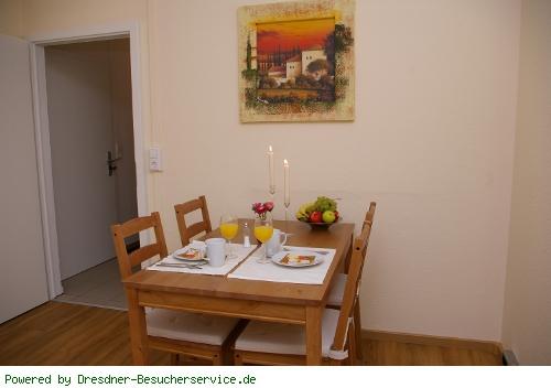 Essbereich der Fewo in Dresden